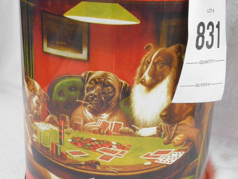 Dogs Playing Poker Tin Can