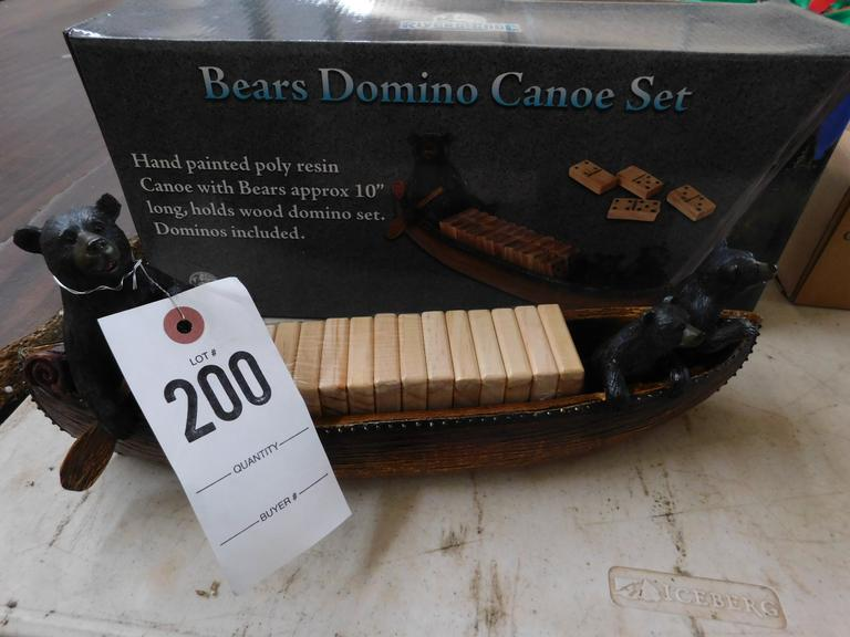 Bears in Canoe Dominoes