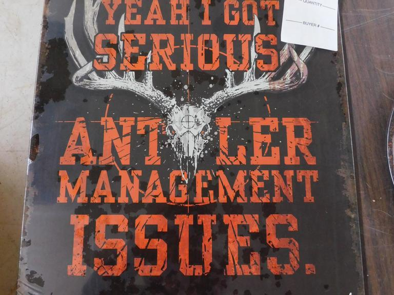 Antler Management Sign